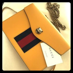 GORGEOUS GUCCI crossbody or clutch purse yellow